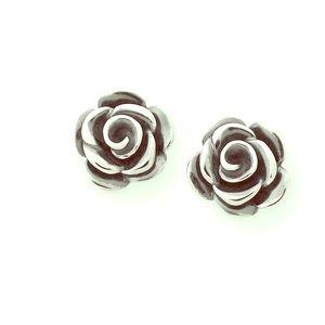 James Avery Rose Petal Earrings